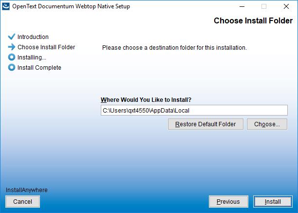 OpenText Documentum Webtop 16 4 - Native Client Installation